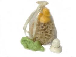 Dárkový balíček pro děti s přírodním mýdlem - mořská houba premi