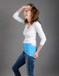 Nice Belly Bederní pás modro-šedý velikost S