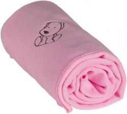 Kaarsgaren Dětská flísová deka s pejskem růžová