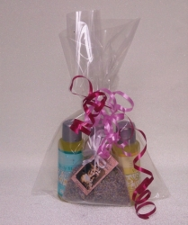 Dárkový balíček Saloos - 3 x masážní olej 50 ml + vonný sáček le