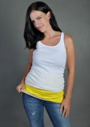 Nice Belly Bederní pás žluto-šedý velikost S